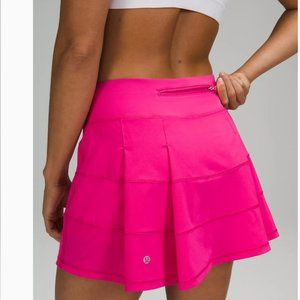 NWT LULULEMON Pace Rival Skirt Sonic PINK 4 TALL